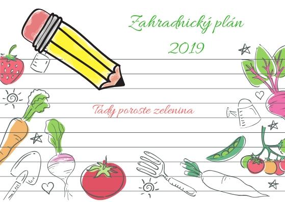 Namalujte si zahradnický plán a naplánujte zeleninovou zahradu